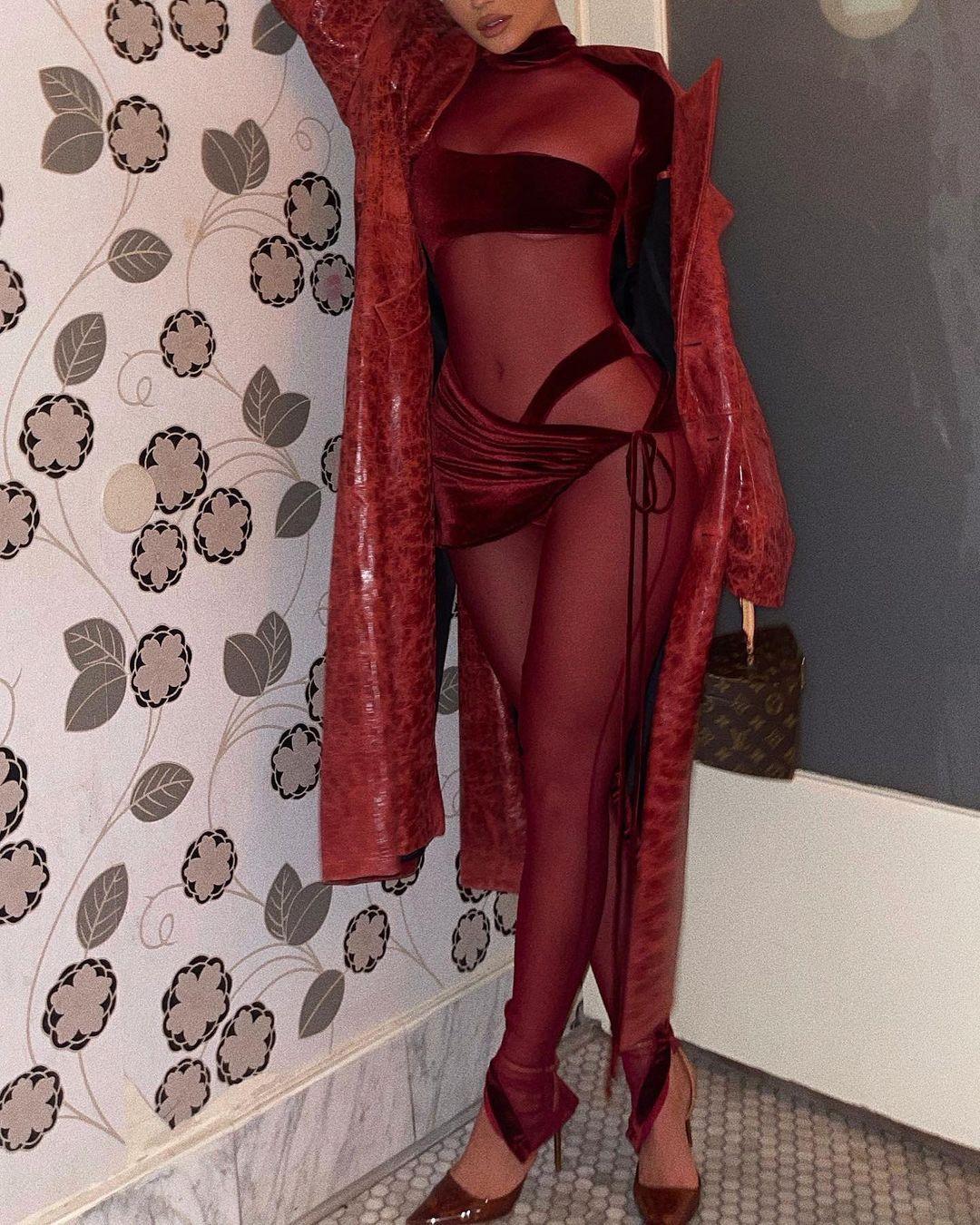 Kylie Jenner Skimpy Outfit