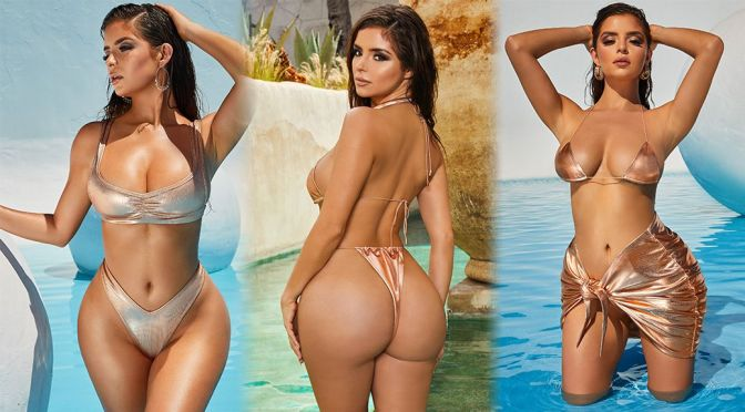 """Demi Rose Mawby – Magnificent Ass and Boobs in """"Oh Polly"""" Beach Wear Photoshoot"""