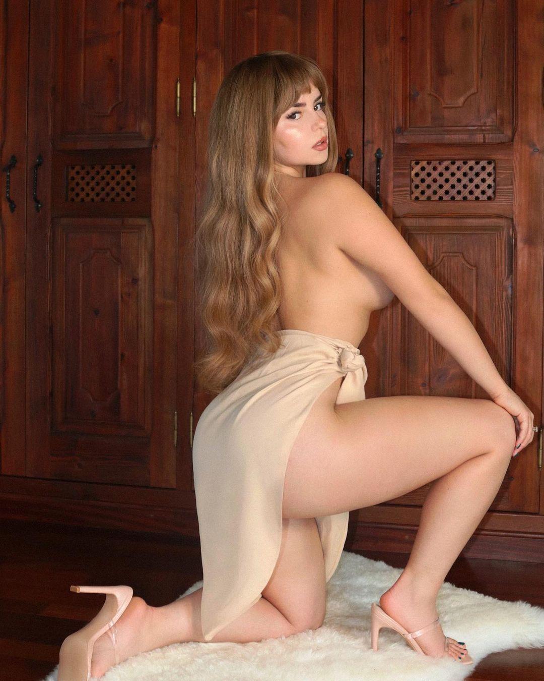 Demi Rose Mawby Topless Side Boob
