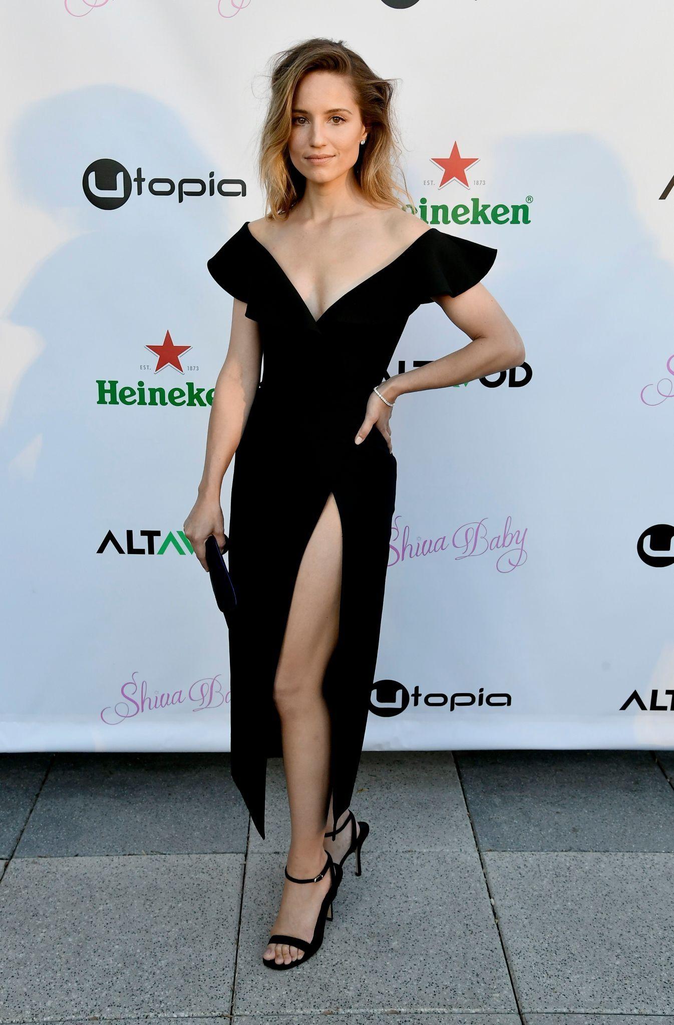 Dianna Agron Sexy Black Dress
