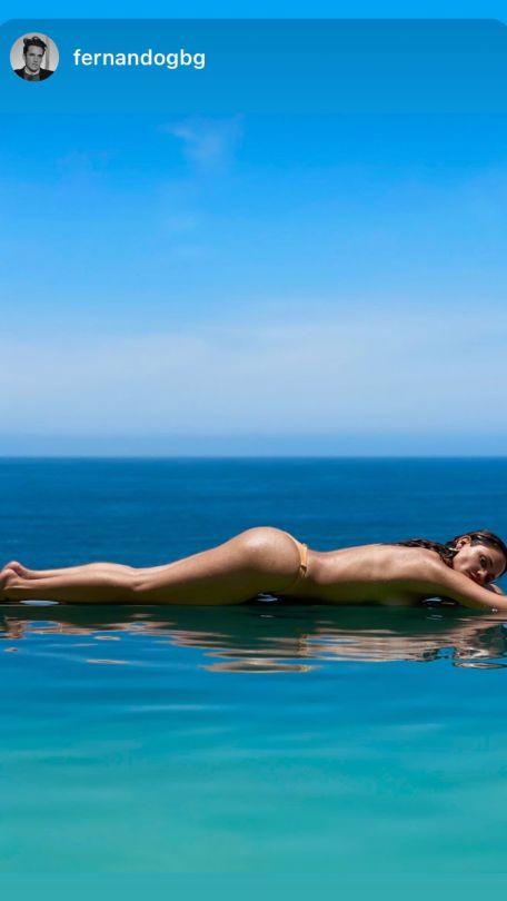 Eiza Gonzalez Topless Sunbathing