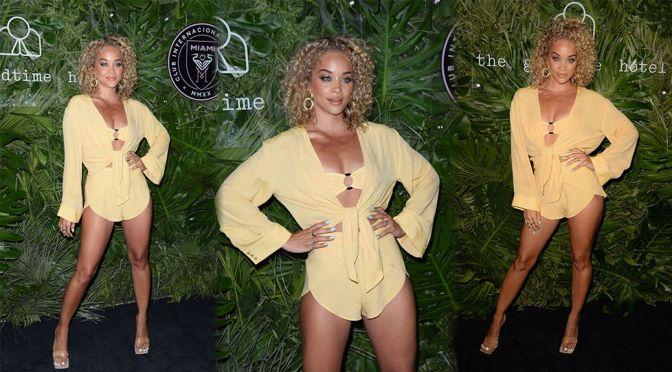 Jasmine Sanders – Stunnin Body at Inter Miami CF Season Opening Party at the Goodtime Hotel in Miami