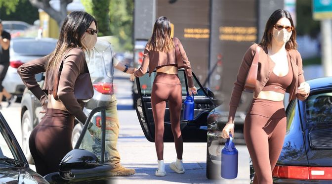 Kendall Jenner – Stunning Fit Body in a Sexy Leggings and Sports Bra
