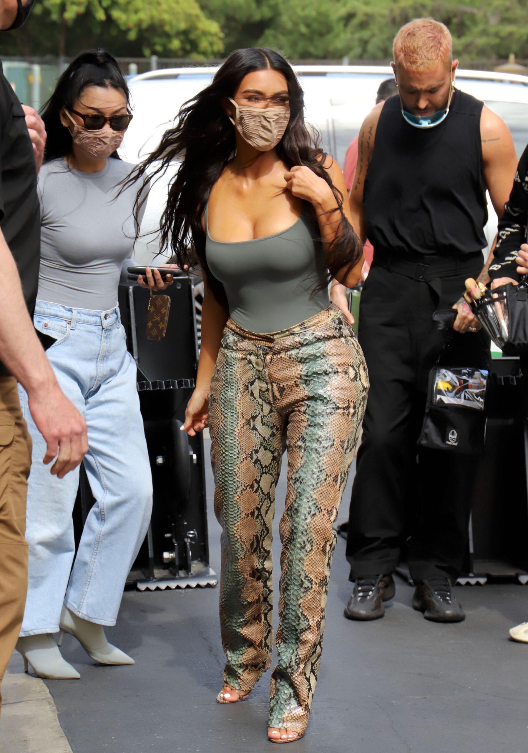 Kim Kardashian Beautiful Braless Tits