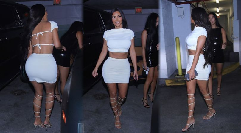 Kim Kardashian Fantastic Body In Mini Skirt