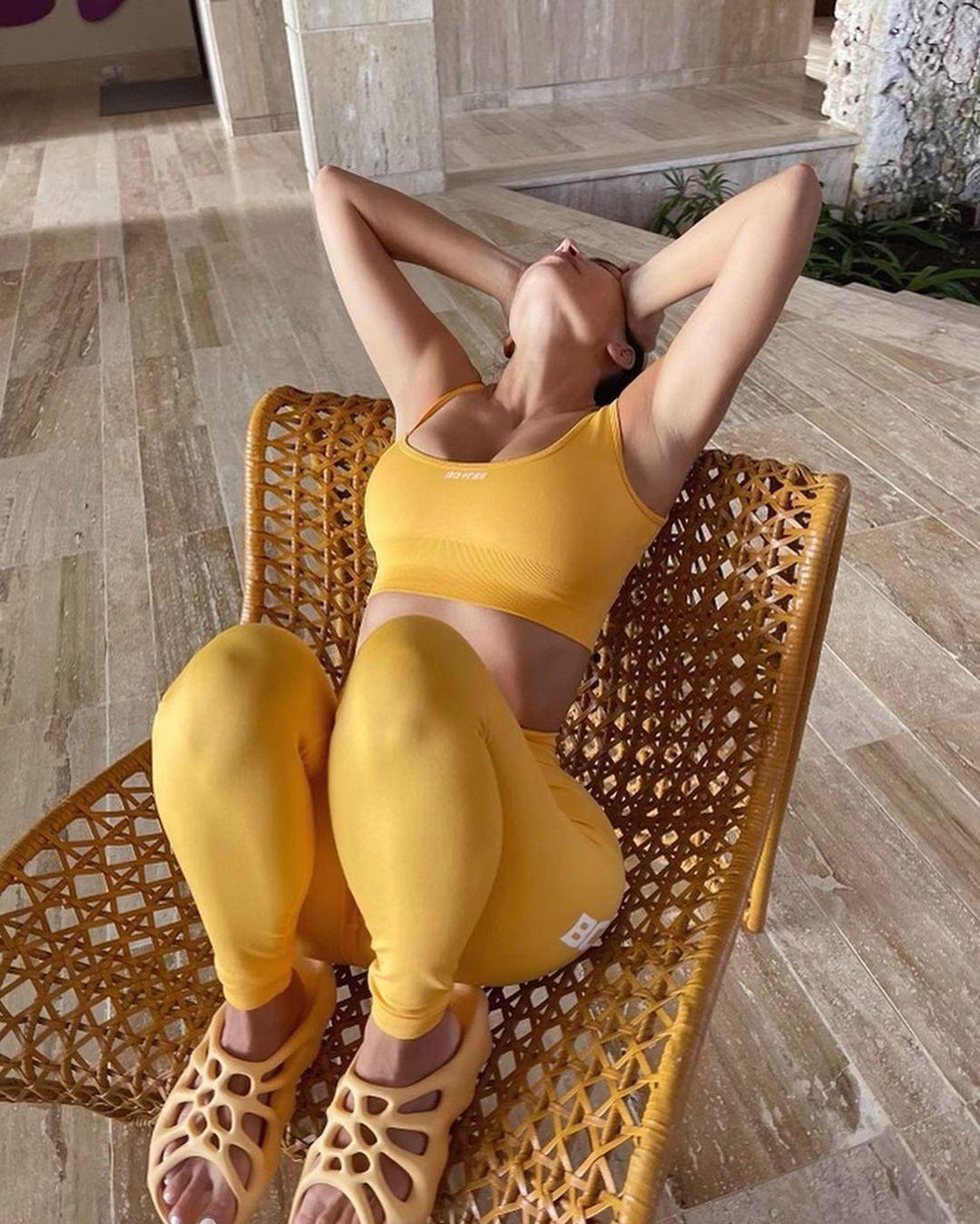 Kim Kardashian In Sexy Gmy Outfit