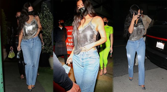 Kylie Jenner – Beautiful in Jeans at Giorgio Baldi in Santa Monica
