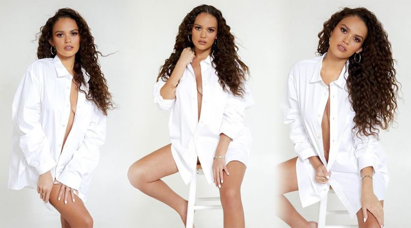 Madison Pettis Gorgeous In Only Shirt