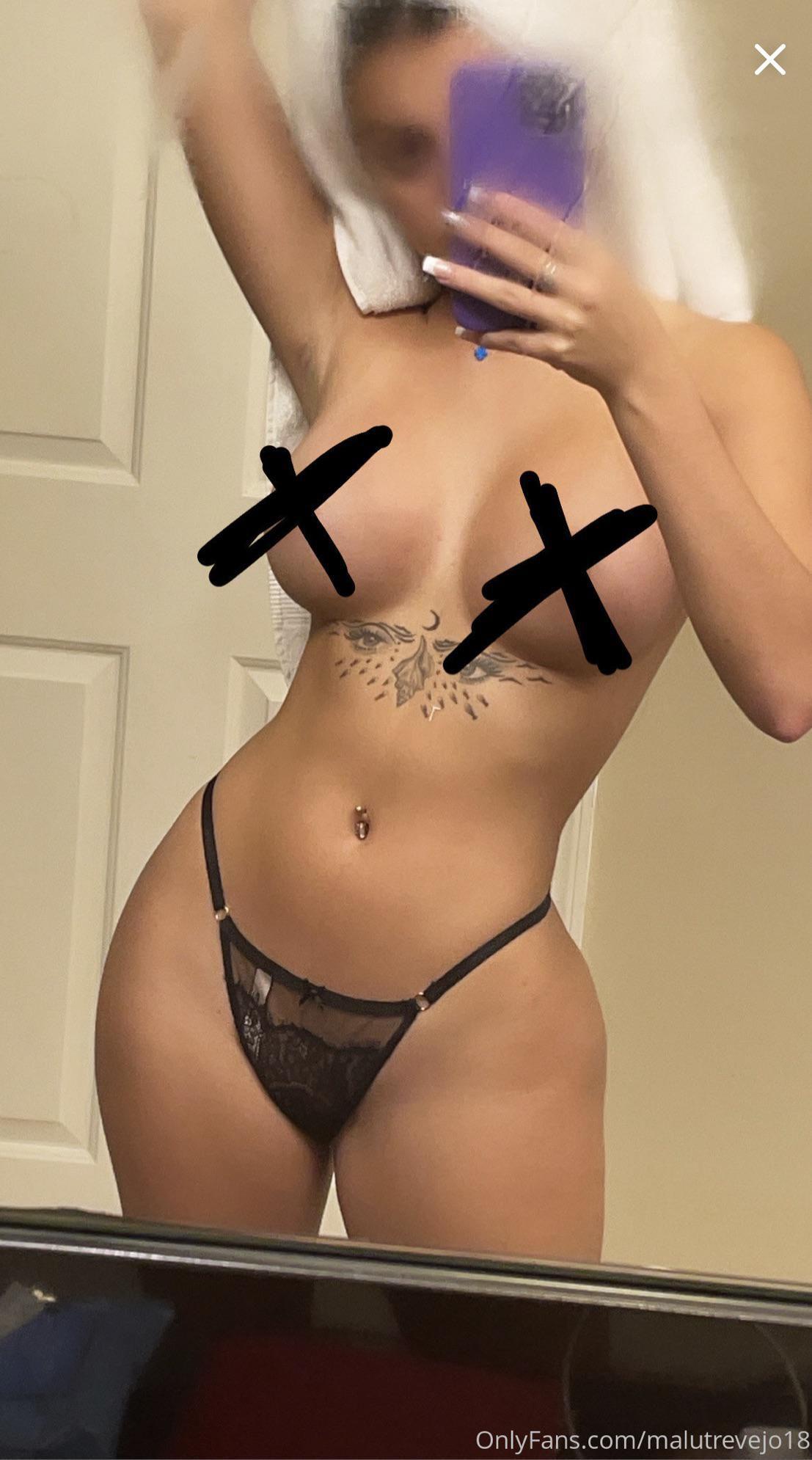 Malu Trevejo Topless Censored