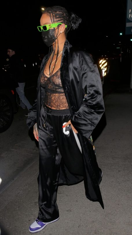 Rihanna In Sheer Bra