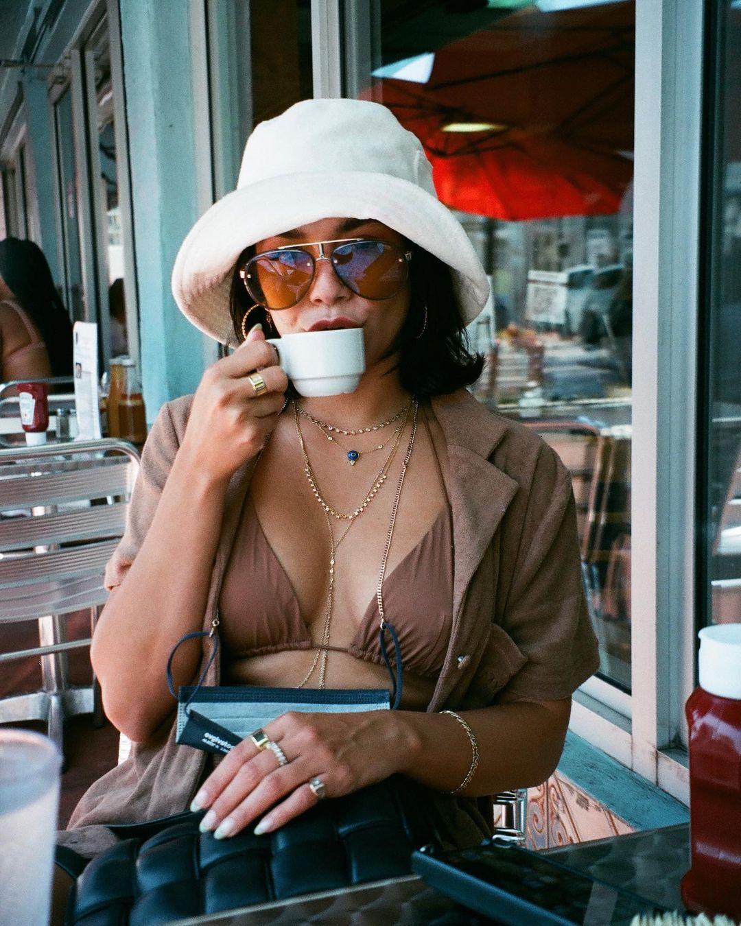 Vanessa Hudgens In Bikini Top