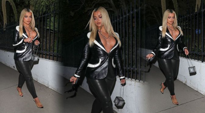Bebe Rexha – Gorgeous Braless Boobs at Album Release Party in Beverly Hills