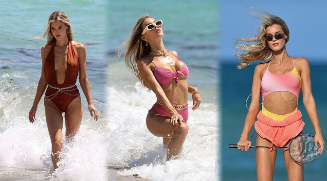 Joy Corrigan – Sexy Toned BOdy in a Bikini Photoshoot on the Beach in Miami