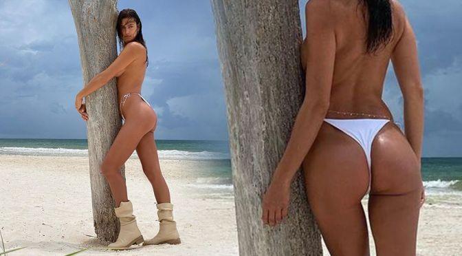 Irina Shayk – Gorgeous Ass in Tiny Thong Bikini