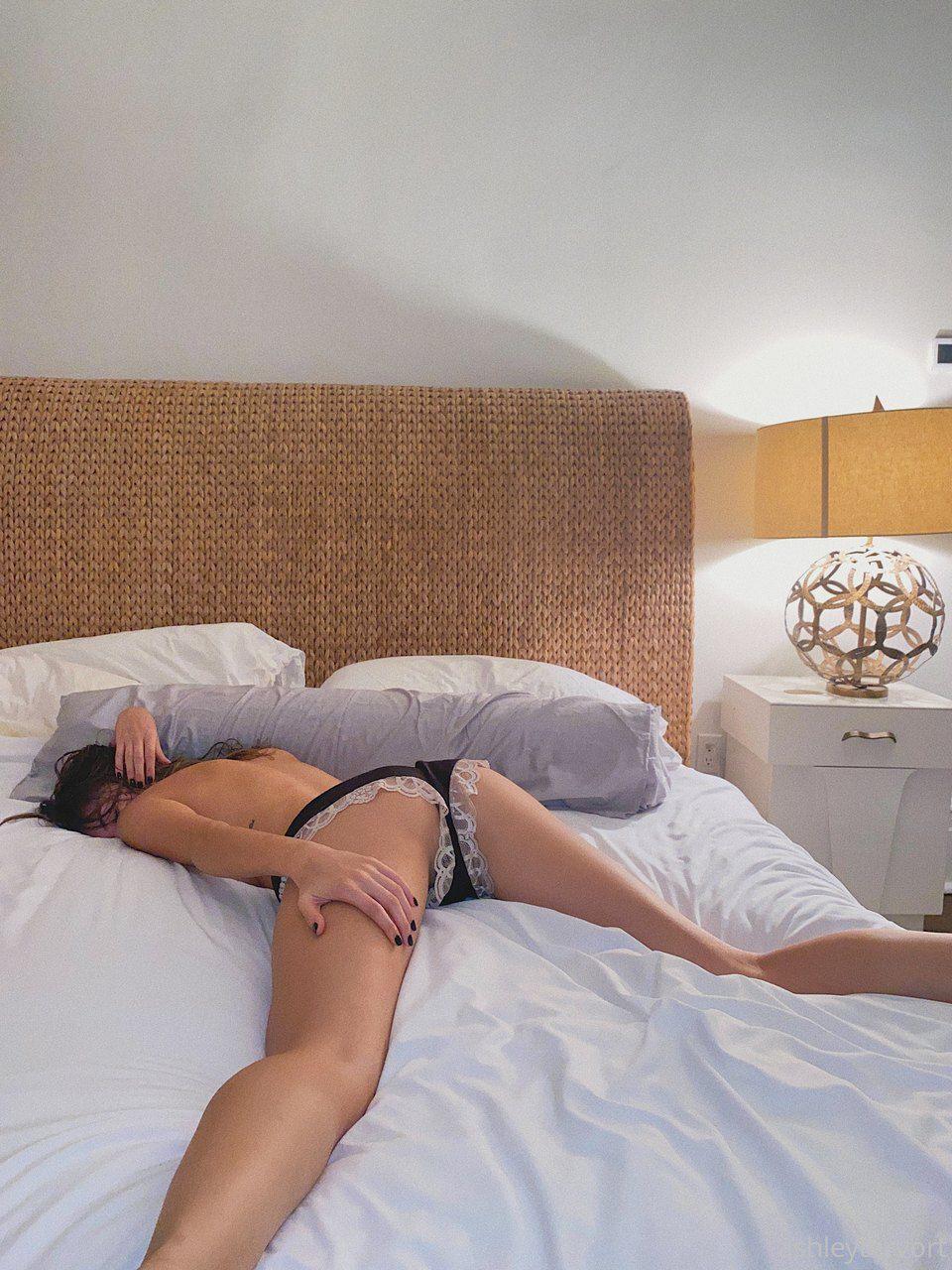 Ashley Tervort Topless On Bed
