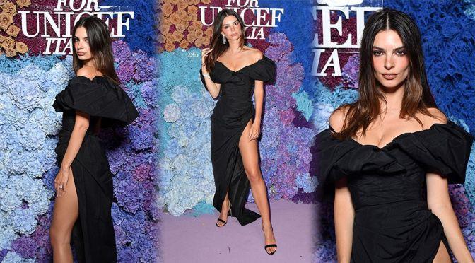Emily Ratajkowski – Gorgeous in a Sexy Dress at the LuisaViaRoma for Unicef Event in Capri