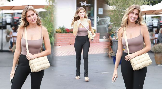 Kara Del Toro – Beautiful Boobs in a Sexy Cleavage at Fred Segal's in West Hollywood