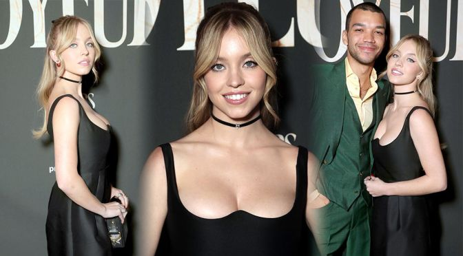 "Sydney Sweeney – Sexy Boobs in Black Dress ""The Voyeurs"" Premiere in Los Angeles"