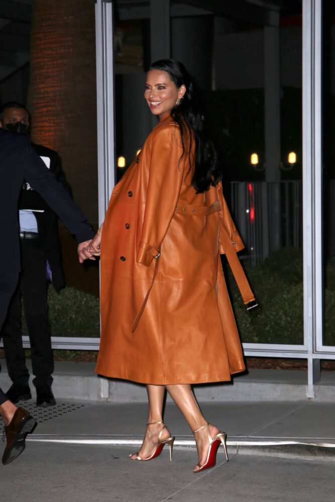 Adriana Lima Sexy Legs In Short Dress