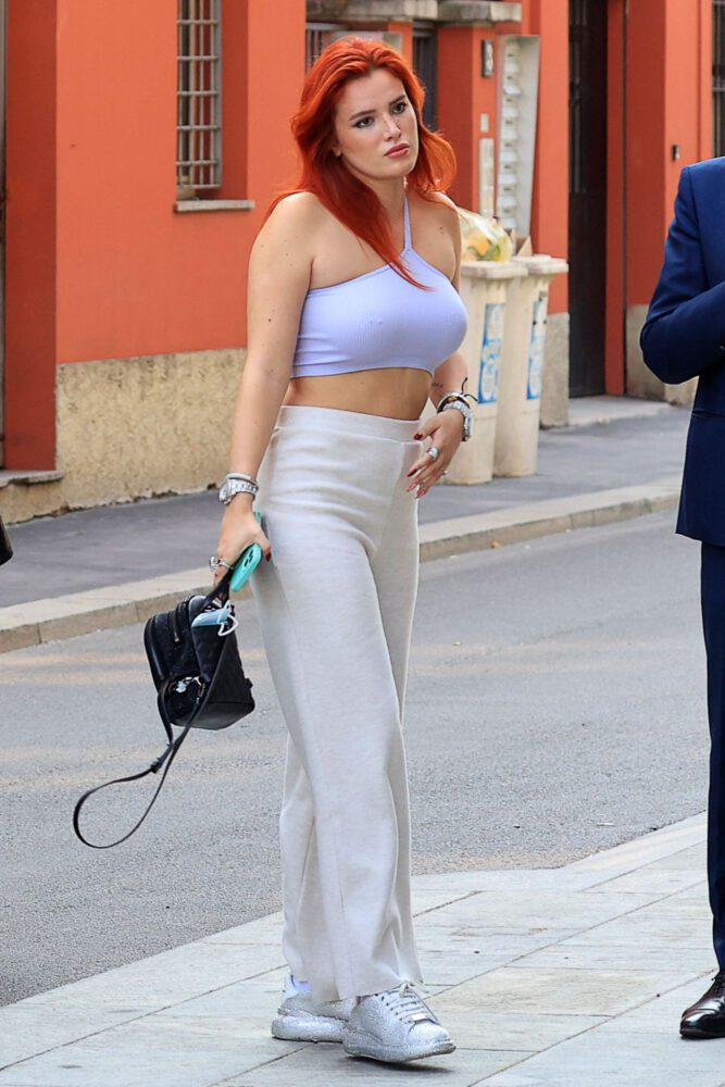 Bella Thorne Braless Boobs And Pierced Nipples