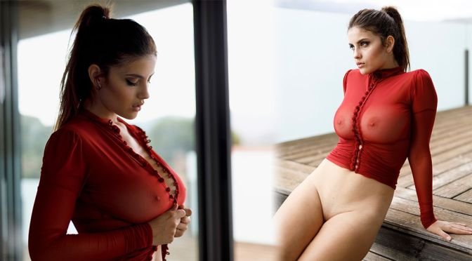 Judit Guerra – Gorgeous Big Tits in a Sexy See-Through Photoshoot (NSFW)