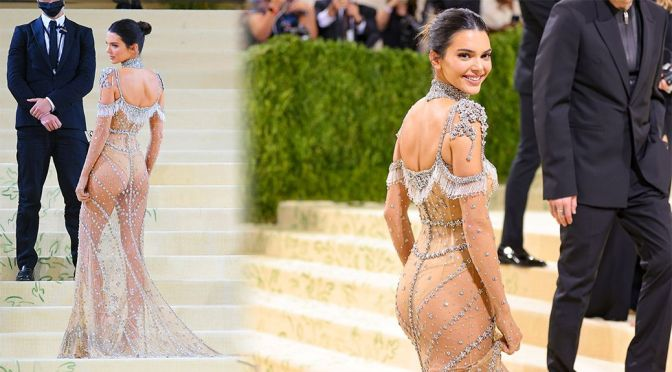 Kendall Jenner Gorgeous In A Sexy Sheer Dress