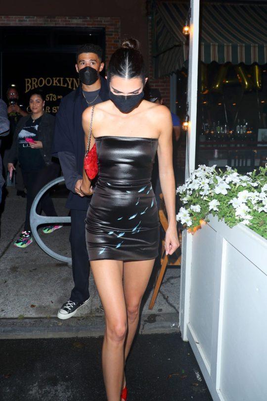Kendall Jenner Leggy In Short Dress
