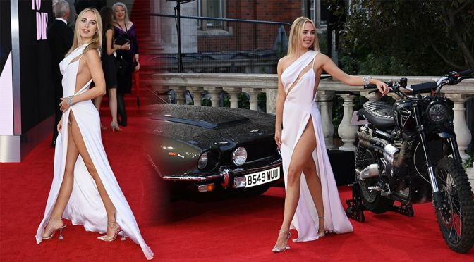"""Kimberley Garner – Gorgeous Legs and Sexy Panties at """"No Time To Die"""" Premiere in London"""