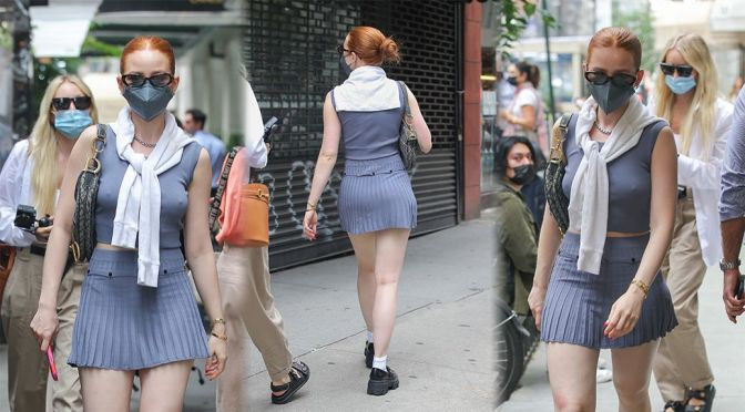 Madelaine Petsch – Sexy Legs and Pokies Out in New York