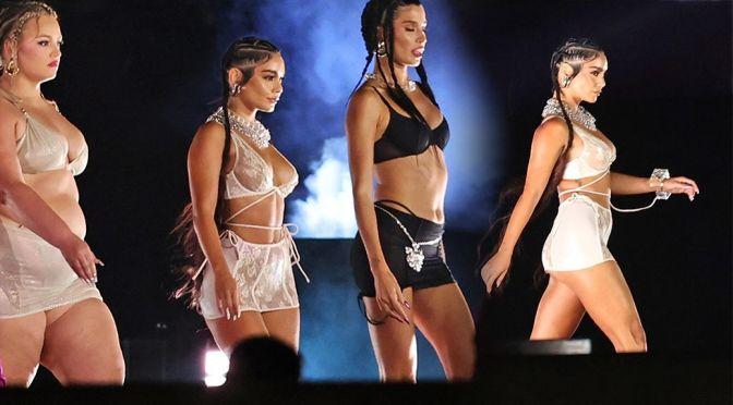 Vanessa Hudgens – Fantastic Boobs in Lingerie at Rihanna's Savage X Fenty Show in Los Angeles