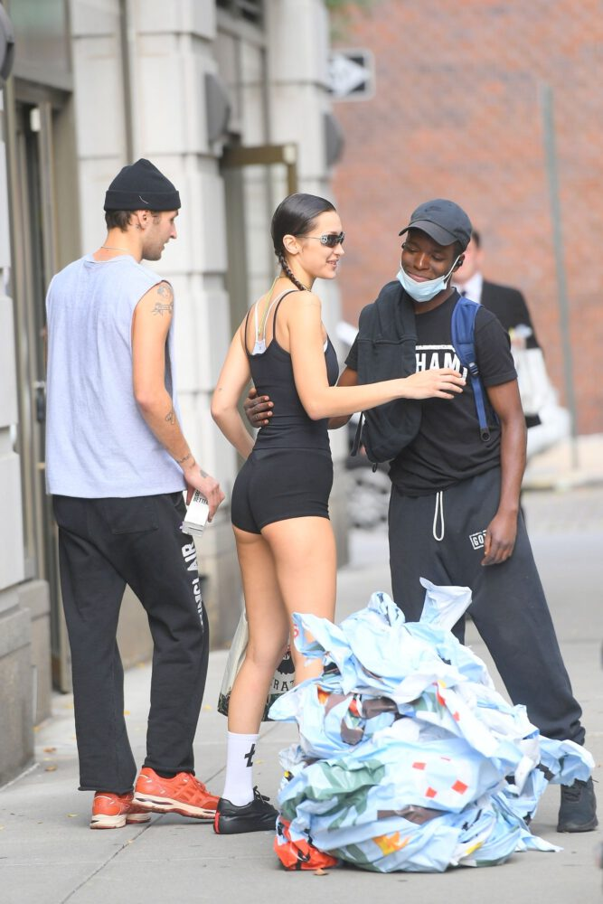 Bella Hadid Sexy Ass In Tiny Shorts