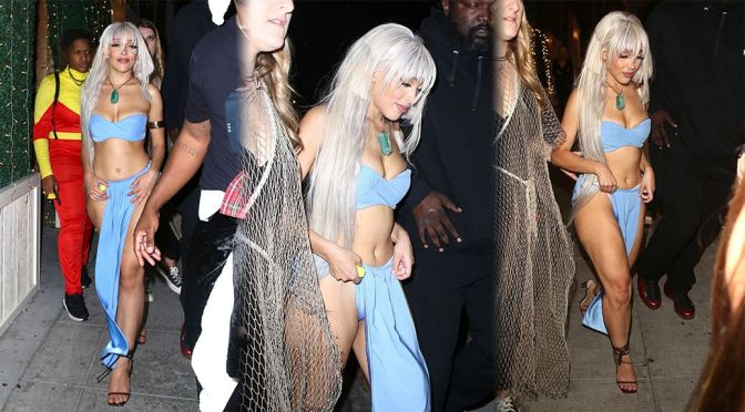 Doja Cat – Sexy Skimpy Outfit at Birthday Party at Delilah in West Hollywood