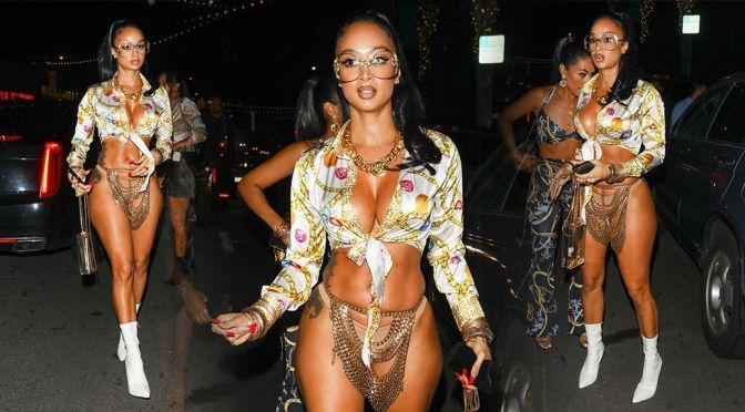 Draya Michele – Stunning Body and Boobs in Skimpy Outfit at Goya Studios Sound Stage in Los Angeles
