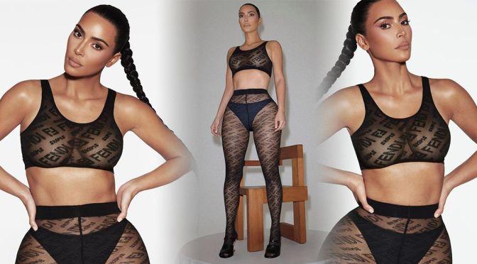 Kim Kardashian – Beautiful Boobs in a Sexy Photoshoot for Fendi x SKIMS Underwear