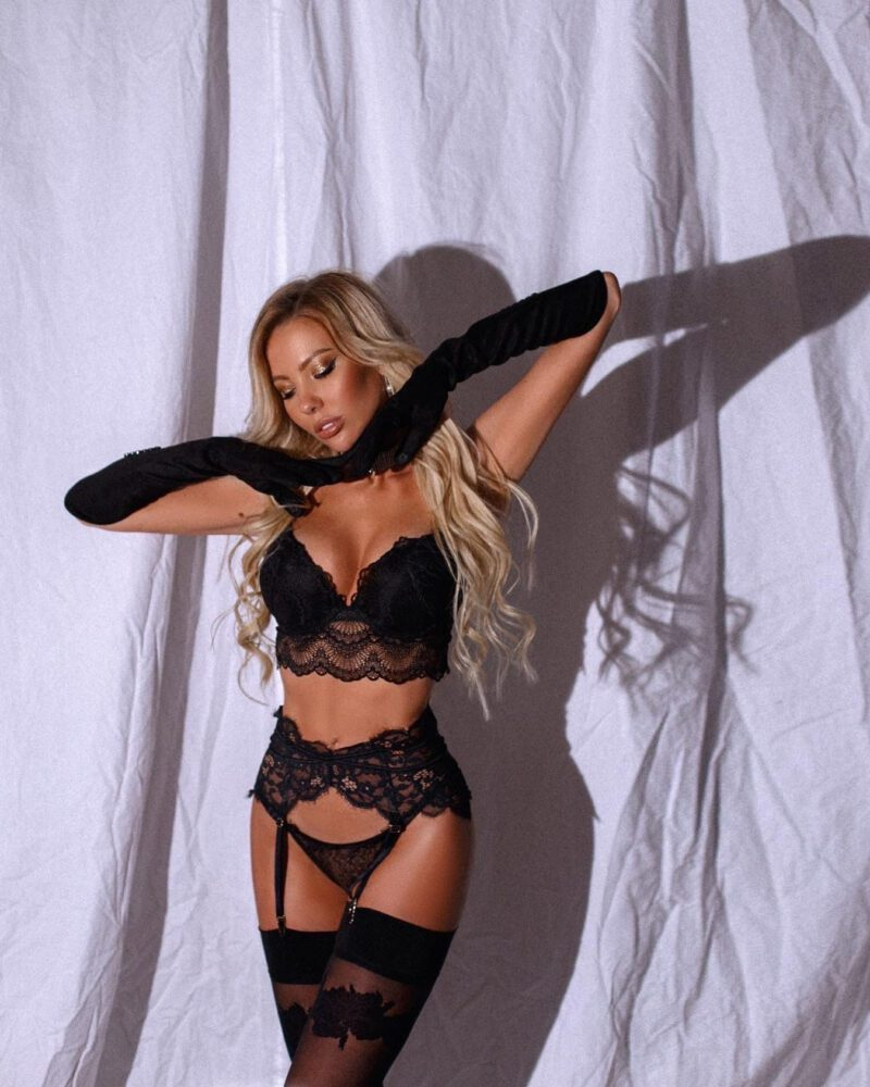 Maria Avtakhova Sexy Black Lingerie