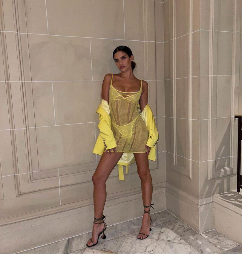 Sara Sampaio Gorgeous In Sheer Dress