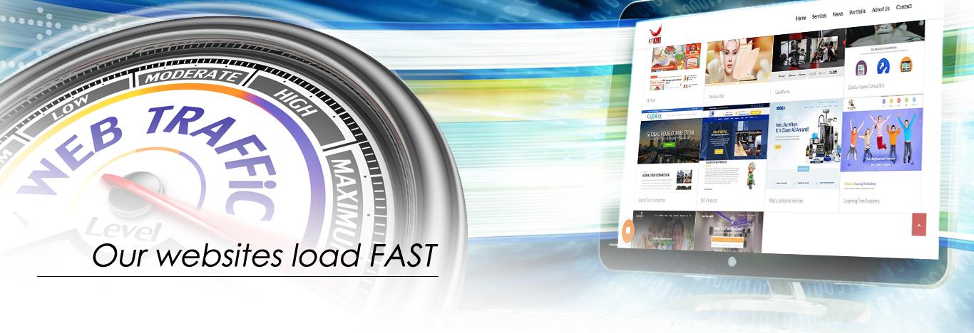 Our websites load FAST