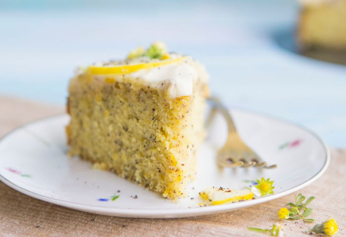 Poppy Seed Lemon Cake With Cream Cheese Frosting Hot Chocolate Hits