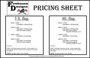 pricesheet for firehouse