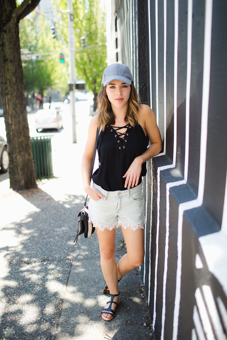 Trend Report Lace Up Tops And Baseball Hats Hot Dress