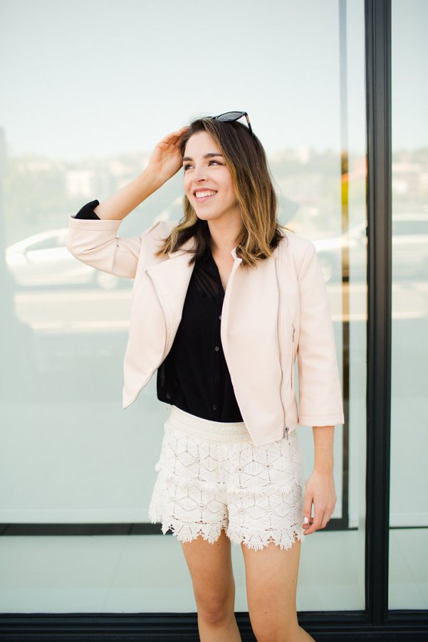 Zara Faux Leather Nude Pink Blush Jacket