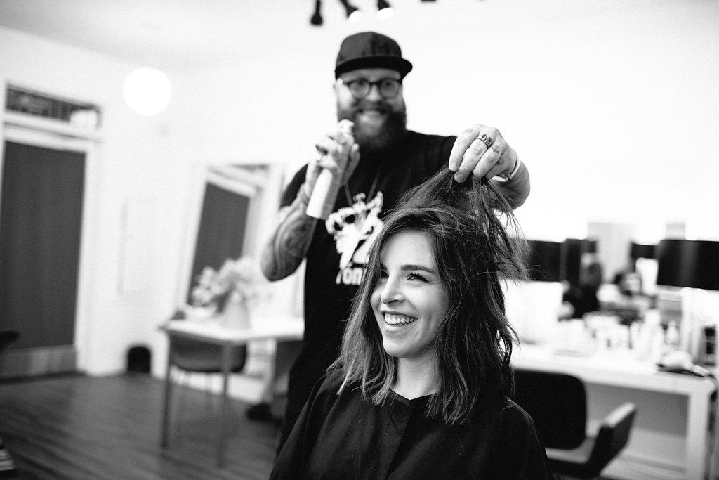 Short wavy lob hairstyle, Ramirez Tran Salon
