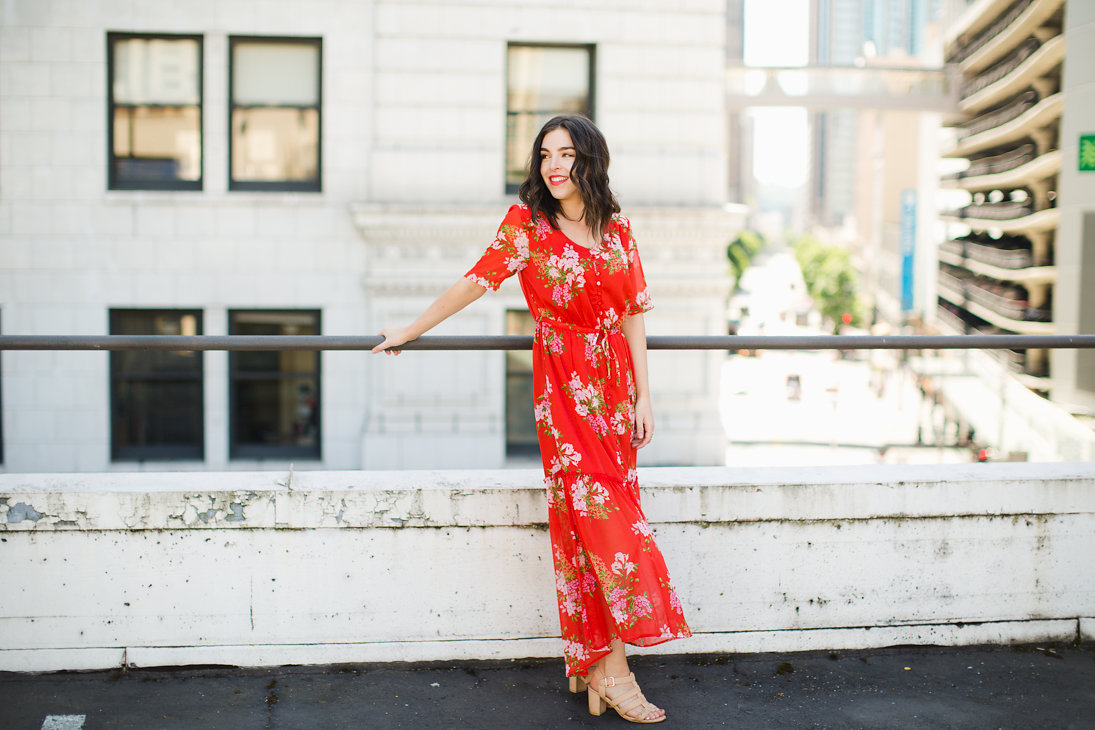 Affordable Clothing that Looks Expensive Who What Wear Red Floral Dress 6