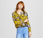Who What Wear floral button up blouse Target Style
