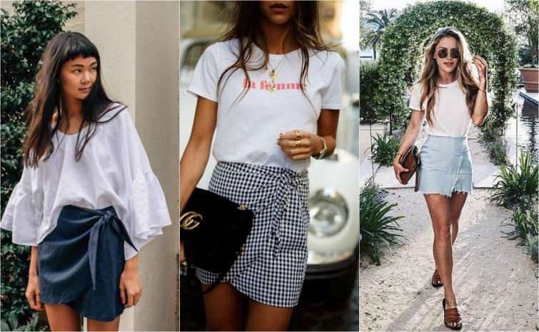 Wrap mini skirt fashion trend fashion bloggers