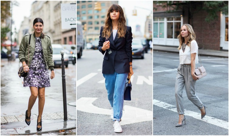 Fashionable street style outfits for work