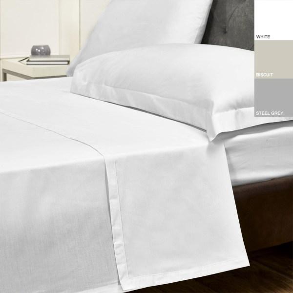 Sheraton 200TC 100% Cotton Percale Flat Sheet