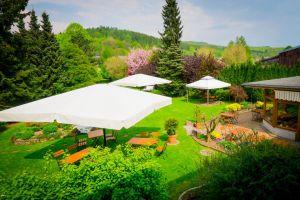Den Sommer genießen im Garten Harzer Hof