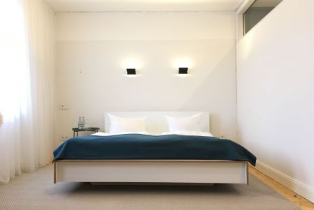 Designbett in der Eco-Suite