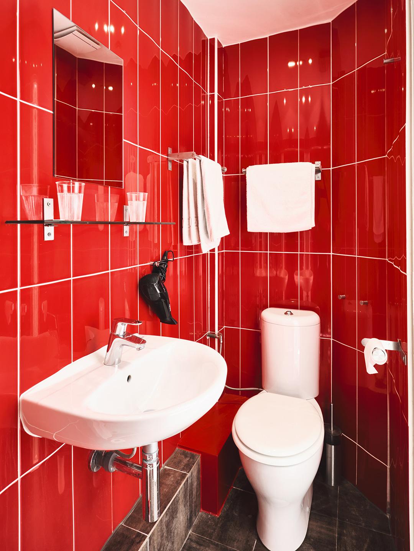 Hôtel Lemon - Menton - Salle de bain Famille et toilettes